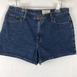 Eddie Bauer Mom Jeans Denim High Waisted Shorts